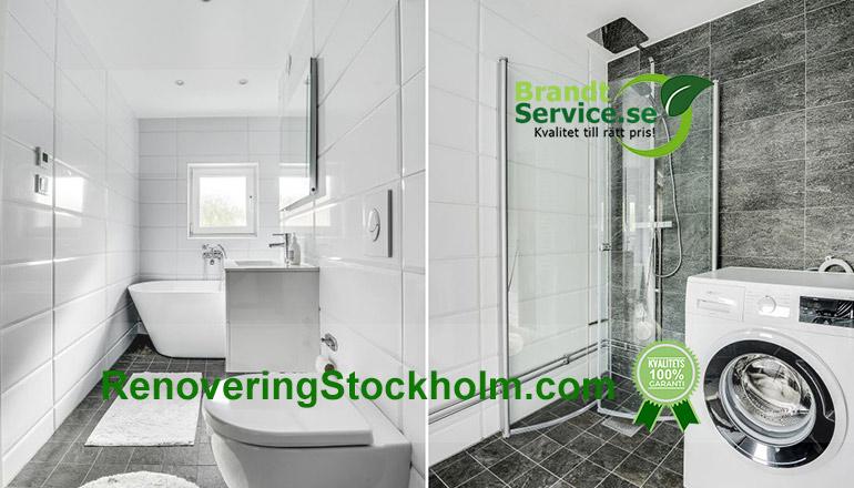badrumsrenovering i Solna